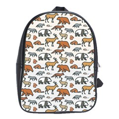 Wild Animal Pattern Cute Wild Animals School Bags (XL)