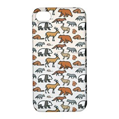 Wild Animal Pattern Cute Wild Animals Apple iPhone 4/4S Hardshell Case with Stand