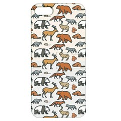 Wild Animal Pattern Cute Wild Animals Apple iPhone 5 Hardshell Case with Stand