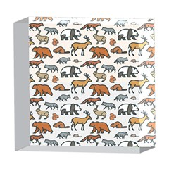 Wild Animal Pattern Cute Wild Animals 5  x 5  Acrylic Photo Blocks