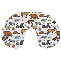 Wild Animal Pattern Cute Wild Animals Travel Neck Pillows