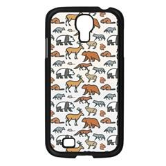 Wild Animal Pattern Cute Wild Animals Samsung Galaxy S4 I9500/ I9505 Case (Black)
