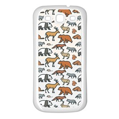 Wild Animal Pattern Cute Wild Animals Samsung Galaxy S3 Back Case (White)