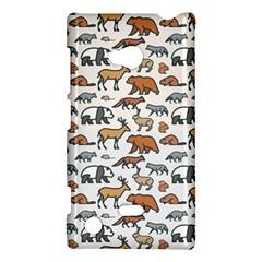 Wild Animal Pattern Cute Wild Animals Nokia Lumia 720