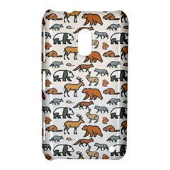 Wild Animal Pattern Cute Wild Animals Nokia Lumia 620