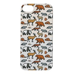 Wild Animal Pattern Cute Wild Animals Apple iPhone 5S/ SE Hardshell Case