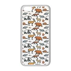 Wild Animal Pattern Cute Wild Animals Apple iPhone 5C Seamless Case (White)