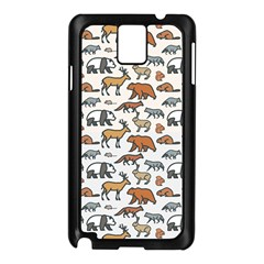 Wild Animal Pattern Cute Wild Animals Samsung Galaxy Note 3 N9005 Case (Black)