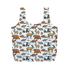 Wild Animal Pattern Cute Wild Animals Full Print Recycle Bags (M)