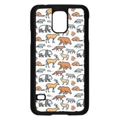 Wild Animal Pattern Cute Wild Animals Samsung Galaxy S5 Case (Black)