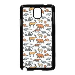 Wild Animal Pattern Cute Wild Animals Samsung Galaxy Note 3 Neo Hardshell Case (Black)