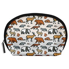 Wild Animal Pattern Cute Wild Animals Accessory Pouches (Large)