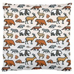 Wild Animal Pattern Cute Wild Animals Large Flano Cushion Case (One Side)