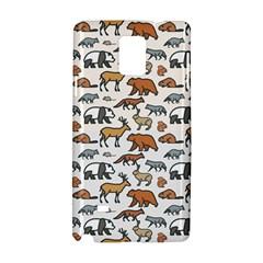 Wild Animal Pattern Cute Wild Animals Samsung Galaxy Note 4 Hardshell Case