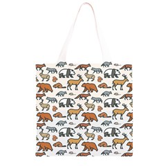 Wild Animal Pattern Cute Wild Animals Grocery Light Tote Bag
