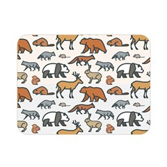 Wild Animal Pattern Cute Wild Animals Double Sided Flano Blanket (Mini)