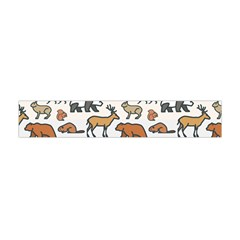 Wild Animal Pattern Cute Wild Animals Flano Scarf (Mini)