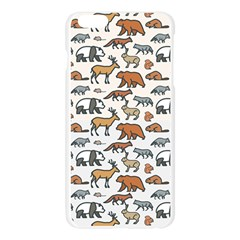 Wild Animal Pattern Cute Wild Animals Apple Seamless iPhone 6 Plus/6S Plus Case (Transparent)