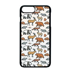 Wild Animal Pattern Cute Wild Animals Apple iPhone 7 Plus Seamless Case (Black)