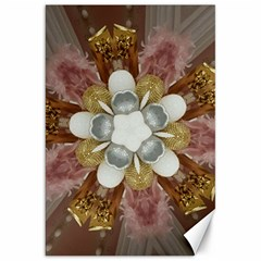 Elegant Antique Pink Kaleidoscope Flower Gold Chic Stylish Classic Design Canvas 20  x 30