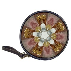 Elegant Antique Pink Kaleidoscope Flower Gold Chic Stylish Classic Design Classic 20-CD Wallets