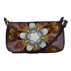 Elegant Antique Pink Kaleidoscope Flower Gold Chic Stylish Classic Design Shoulder Clutch Bags