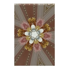 Elegant Antique Pink Kaleidoscope Flower Gold Chic Stylish Classic Design Shower Curtain 48  x 72  (Small)