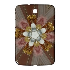 Elegant Antique Pink Kaleidoscope Flower Gold Chic Stylish Classic Design Samsung Galaxy Note 8.0 N5100 Hardshell Case