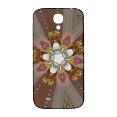 Elegant Antique Pink Kaleidoscope Flower Gold Chic Stylish Classic Design Samsung Galaxy S4 I9500/I9505  Hardshell Back Case