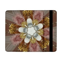 Elegant Antique Pink Kaleidoscope Flower Gold Chic Stylish Classic Design Samsung Galaxy Tab Pro 8.4  Flip Case