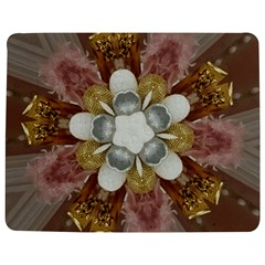 Elegant Antique Pink Kaleidoscope Flower Gold Chic Stylish Classic Design Jigsaw Puzzle Photo Stand (Rectangular)
