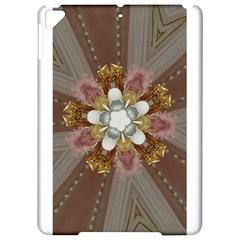 Elegant Antique Pink Kaleidoscope Flower Gold Chic Stylish Classic Design Apple Ipad Pro 9 7   Hardshell Case
