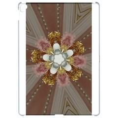 Elegant Antique Pink Kaleidoscope Flower Gold Chic Stylish Classic Design Apple Ipad Pro 12 9   Hardshell Case