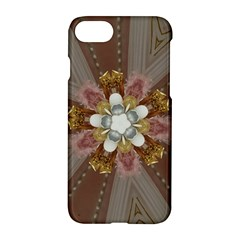 Elegant Antique Pink Kaleidoscope Flower Gold Chic Stylish Classic Design Apple iPhone 7 Hardshell Case