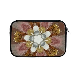 Elegant Antique Pink Kaleidoscope Flower Gold Chic Stylish Classic Design Apple Macbook Pro 13  Zipper Case
