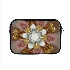Elegant Antique Pink Kaleidoscope Flower Gold Chic Stylish Classic Design Apple MacBook Pro 15  Zipper Case