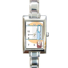 Presentation Girl Woman Hovering Rectangle Italian Charm Watch