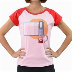 Presentation Girl Woman Hovering Women s Cap Sleeve T-Shirt