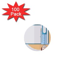 Presentation Girl Woman Hovering 1  Mini Buttons (100 pack)