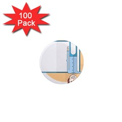 Presentation Girl Woman Hovering 1  Mini Magnets (100 pack)
