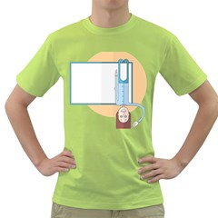 Presentation Girl Woman Hovering Green T-Shirt