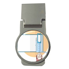 Presentation Girl Woman Hovering Money Clips (Round)