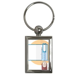 Presentation Girl Woman Hovering Key Chains (Rectangle)