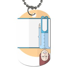 Presentation Girl Woman Hovering Dog Tag (Two Sides)