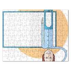 Presentation Girl Woman Hovering Rectangular Jigsaw Puzzl