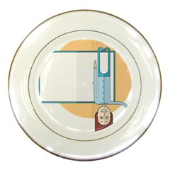 Presentation Girl Woman Hovering Porcelain Plates