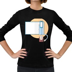 Presentation Girl Woman Hovering Women s Long Sleeve Dark T-Shirts