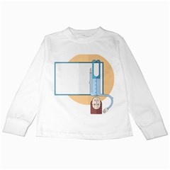 Presentation Girl Woman Hovering Kids Long Sleeve T-Shirts