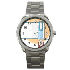 Presentation Girl Woman Hovering Sport Metal Watch