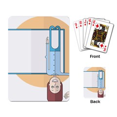 Presentation Girl Woman Hovering Playing Card